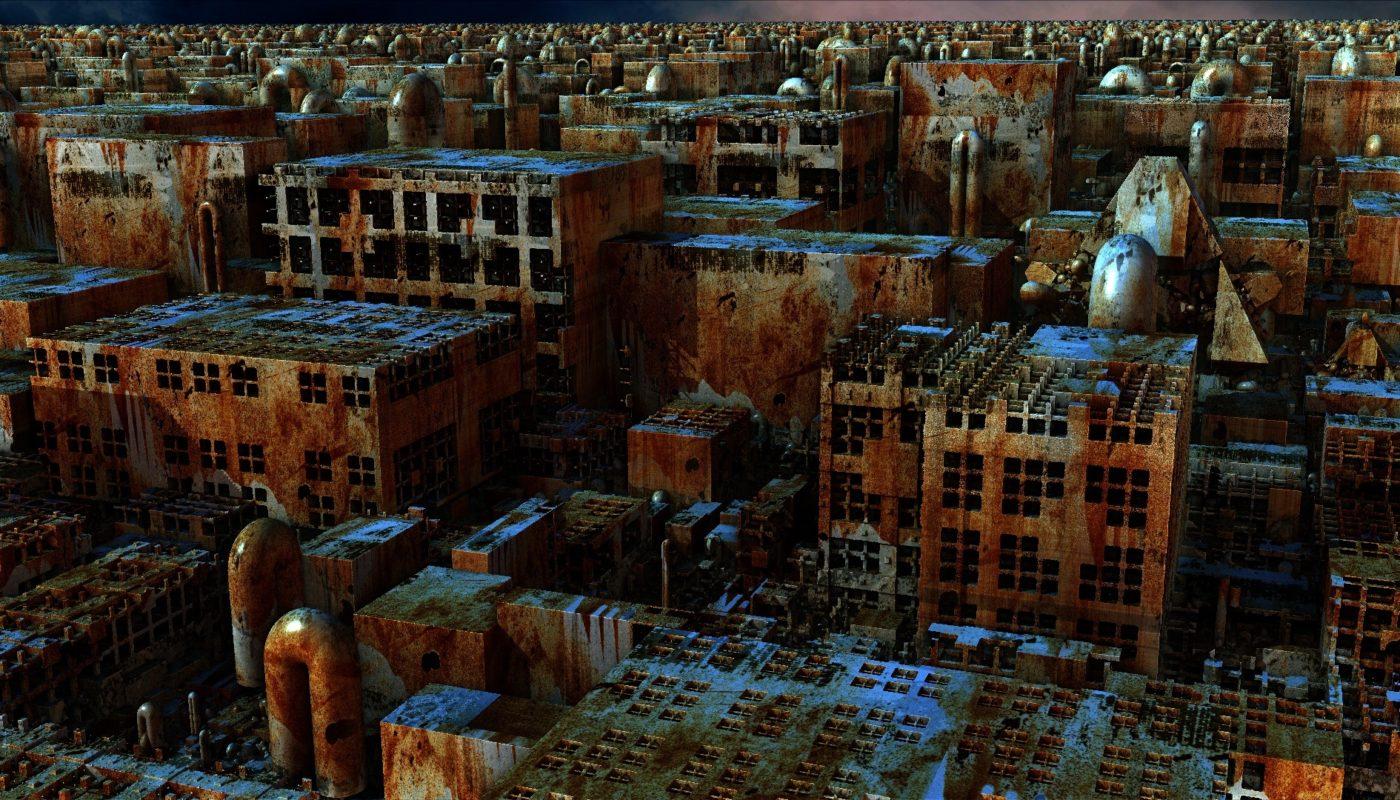 ржавые руины города