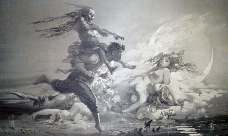 ведьма на Хоме Бруте - иллюстрация к Вию