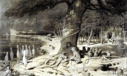 Лукоморье, дуб и Пушкин