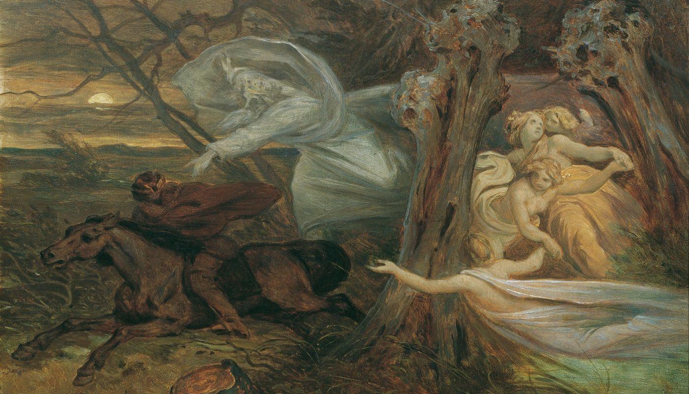 Иллюстрация к балладе Лесной царь