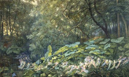 хоровод фей в лесу живопись