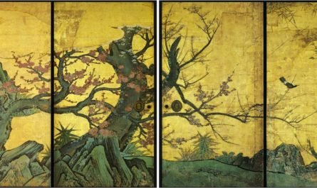 дерево в японской живописи