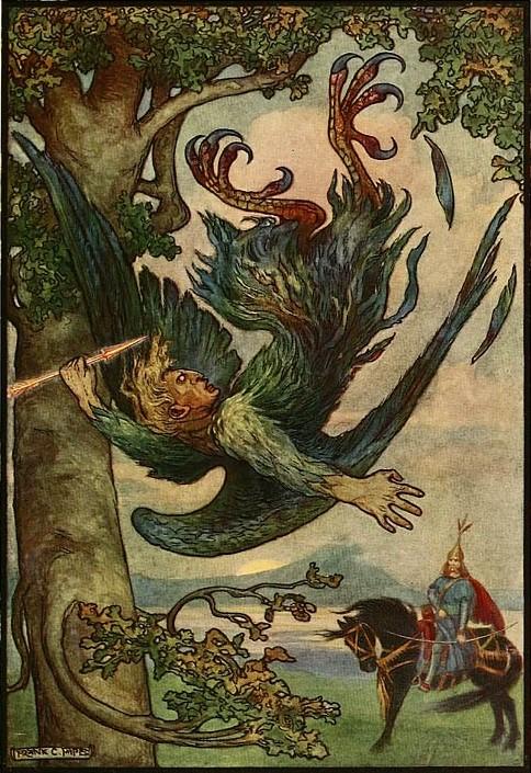 Соловей Разбойник на иллюстрации Папе