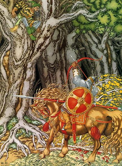 Соловей Разбойник на иллюстрации Билибина