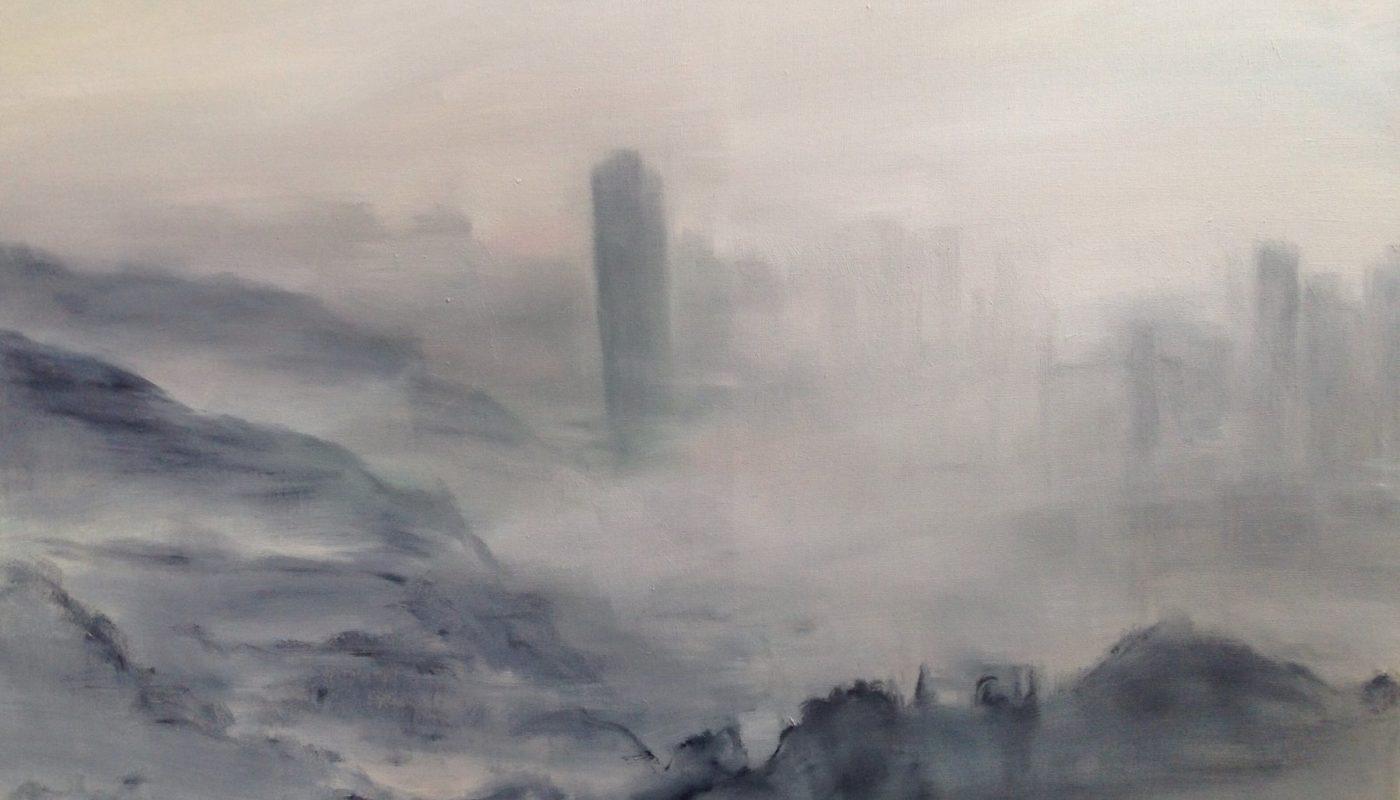 Картина с городом в тумане от 龙飞腾
